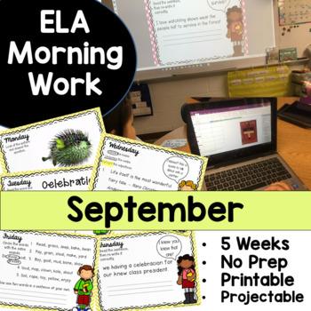 September Morning Work No Prep!