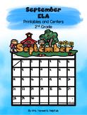 September ELA Printables and Centers Grade 2