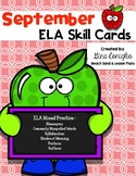 September ELA Skill Cards