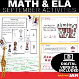 September ELA and Math Activities