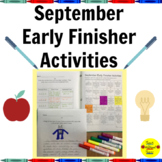 September Early Finisher Activities