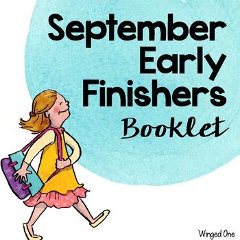 Early Finishers September Booklet