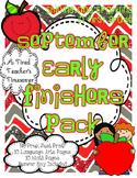 September Early Finishers Pack