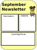 September Editable Newsletter