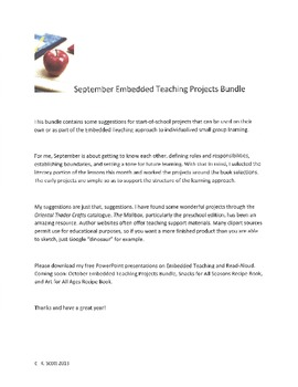 September Embedded Teaching Projects Bundle