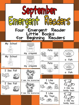 September Emergent Readers - A Book for Each Week- Back to School, Fall