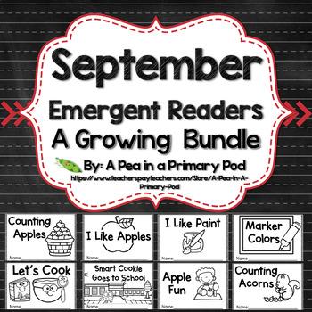 September Emergent Readers and Response Activities Growing Bundle