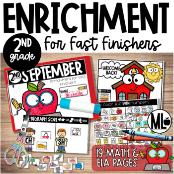 September Enrichment/Early Finishers*Second Grade*