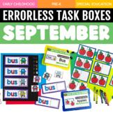 September Errorless Learning Task Boxes (16 Task Boxes Included)