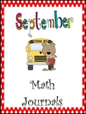 September Everyday Math Journals Printable