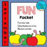 September FUN Packet - NO PREP!