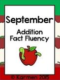 September Fact Fluency Practice Cards