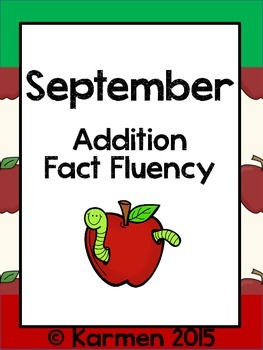 September Fact Fluency Practice Cards