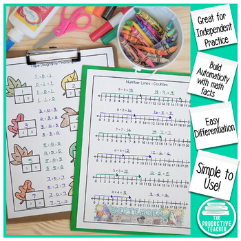 Addition and Subtraction Math Facts Worksheets: September