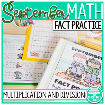 Multiplication and Division Math Facts Worksheets: September