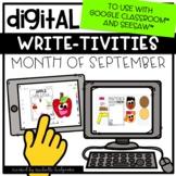 September Fall Autumn Writing for Google Classroom™ &Seesa