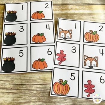 September (Fall) Calendar Cards