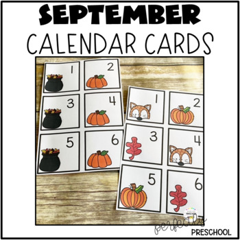 September (Fall) Calendar Pieces