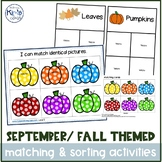 September/ Fall Themed Matching & Sorting Activities / Task Boxes