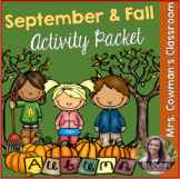 September, Fall and Autumn Activity Packet