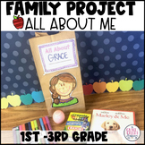 All About Me Family Project   Back to School All About Me