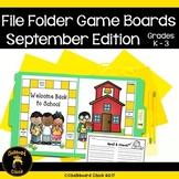 September File Folder Game Boards Word Study Edition