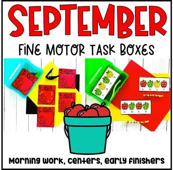 September Fine Motor Task Boxes