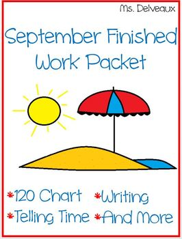 September Finished Work Packet - First Grade