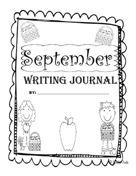 September First Grade Writing Prompts and Journal Pages (Common Core Aligned)