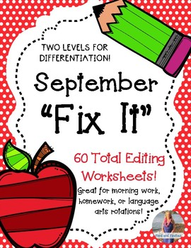 """September """"Fix It"""" Editing Work! Two Levels!"""