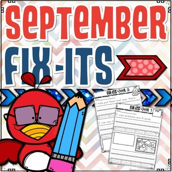 September Fix-It Sentences With Powerpoint