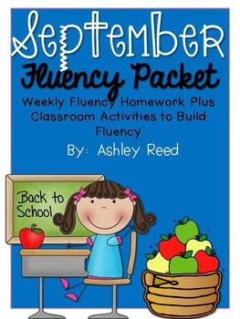 September Fluency Homework Practice Packet