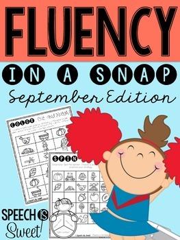 September: Fluency In a Snap {Stuttering}
