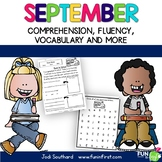 Fluency for September - Common Core Correlated