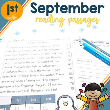 1st Grade Fluency Passages for September