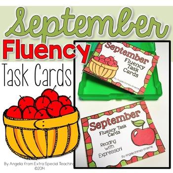 September Fluency Practice Task Cards
