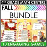 September Fourth Grade Math Centers BUNDLE