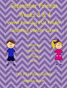 School Friends Word Family Literacy Center (ack-an-est-et) Week 3 & 4