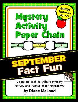 September Fun - Mystery Activity Paper Chain with BONUS September Clip Art