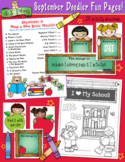 September Fun Pages - Coloring and Activity Download - Dis