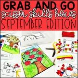 September Grab and Go Scissor Skills Activities