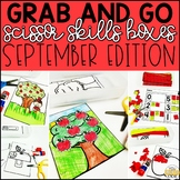 September Grab and Go Scissor Skills Activities