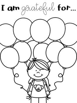 September Gratitude Journal for Kids
