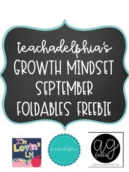 September Growth Mindset Foldables FREE PEEK