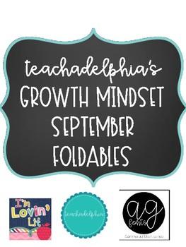 September Growth Mindset Foldables