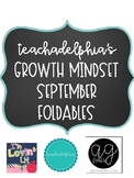 September Growth Mindset Foldables