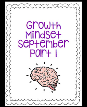 September Growth Mindset Part 1