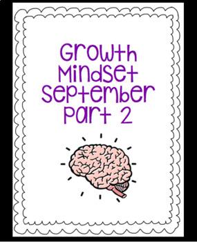 September Growth Mindset Part 2