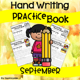 September Hand Writing Practice Book