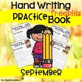September Hand Writing Practice Book Freebies